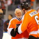 Bernie Parent and Chris Therien - 454 x 303