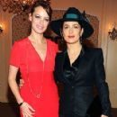 Berenice Bejo & Salma Hayek at the Versace's Étoile de Mer Eyewear Party