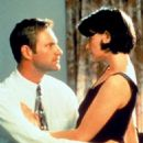 Aaron Eckhart and Stacy Edwards