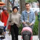 Hilary Duff with her family shopping in Beverly Hills