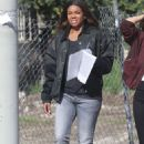 Jessica Alba and Gabrielle Union – On 'L.A.'s Finest' set in Los Angeles - 454 x 681