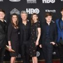 Jon Bon Jovi and family attend the 33rd Annual Rock & Roll Hall of Fame Induction Ceremony at Public Auditorium on April 14, 2018 in Cleveland, Ohio - 454 x 316