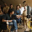 Center left to right: Writer/Producer/Director M. Night Shyamalan confers with Jackson Rathbone (Sokka), Nicola Peltz (Katara), and Noah Ringer (Aang) on the set of Paramount Pictures/Nickelodeon Movies adventure, 'The Last Airbender.' Photo credi