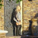 Ashley Tisdale: Outside her parents' house in Toluca lake