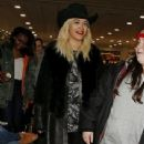 Rita Ora seen arriving back from Dubai this evening. London, UK