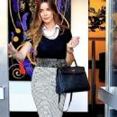 Supermodel Courtney Bingham sighted at the GP Deva Frontier Arts & X Power Gallery in Beverly Hills