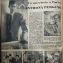 Anthony Perkins - Festival Magazine Pictorial [France] (6 December 1960)