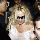 Pamela Anderson Leaving A Restaurant In West Hollywood , 2008-08-10