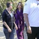 Sofia Vergara Filming Modern Family