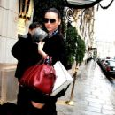 Miranda Kerr arrives at the Bristol Hotel Paris,France March 06,2012