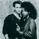 Johnny Depp and Holly Robinson Peete in 21 Jump Street (1987) - 391 x 486