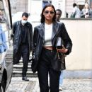 Irina Shayk – Seen leaving the Hugo Boss show at Milan Fashion Week 2020