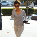 Kourtney Kardashian making a Starbucks coffee run in Calabasas, California on December 14, 2013