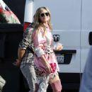 Heidi Klum – Heads to set off Germany's Next Topmodel in LA