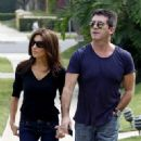 Simon Cowell and Meghan Hussainy in Beverly Hills