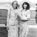 Jerry Hall with Marie Helvin at Ascot, June 1982