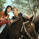 Jean Simmons and Kirk Douglas