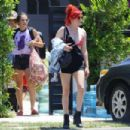 Bella Thorne – Heads to a party in Studio City - 454 x 303