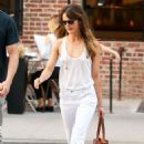 Keri Russell with Matthew Rhys – In tank top while out in Tribeca - 454 x 681