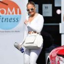Jennifer Lopez in White Gym Outfit – Out in Miami