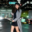 Victoria Justice in Black Mini Dress – Out in New York