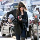 Lea Michele: at the Real Food Daily eatery