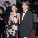 Michelle Pfeiffer and David E. Kelley during The 55th Annual Golden Globe Awards (1998)