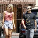 Chelsea Kane and Mark Ballas was spotted leaving the Dancing With The Stars dance studio today, April 28. - 396 x 594