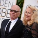 Still going strong! Jerry Hall, 59, hits the Golden Globes red carpet on the arm of 84-year-old Rupert Murdoch - three months after it was revealed they are dating - 11 Jan 2016 - 454 x 302