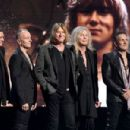 Def Leppard attend the 2019 Rock & Roll Hall Of Fame Induction Ceremony - Press Room at Barclays Center on March 29, 2019 in New York City - 454 x 301