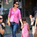 Katie Holmes and Suri Cruise out for a walk in Manhattan (July 15)