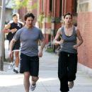Tom Cruise & Katie Holmes Running In Boston