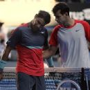 Grigor Dimitrov and Nadal at Australian Open 2014 - 454 x 348