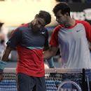 Grigor Dimitrov and Nadal at Australian Open 2014