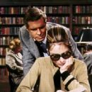 George Peppard as Paul and Audrey Hepburn as Holly in Breakfast at Tiffany's