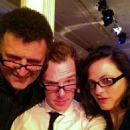 Steven Moffat, Benedict Cumberbatch and Lara Pulver Photo
