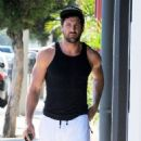 Maksim Chmerkovskiy stops by Hammer & Nails, a nail salon for men, in West Hollywood, California on August 7, 2014 - 454 x 590
