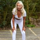 Isabelle Warburton in White – Roller Skating in Warrington