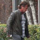 Sean Penn  arriving at a studio in Los Angeles, California on January 30, 2014