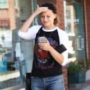 Aly Michalka in Jeans out in Beverly Hills September 7, 2016 - 454 x 669