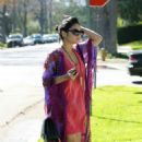 Vanessa Hudgens: Heading to her mom's house in Studio City