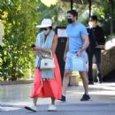 Nicole Scherzinger – And beau Thom Evans shopping in Los Angeles - 454 x 464