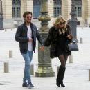 Sylvie Meis and her boyfriend out in Paris - 454 x 386