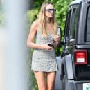 Candice Swanepoel – In mini dress out in Miami