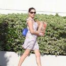 Kelly Brook In Short Dress Shopping In La