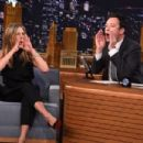 "Jennifer Aniston Visits ""The Tonight Show Starring Jimmy Fallon"" at Rockefeller Center on January 21, 2015 in New York City"
