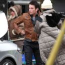 Colin Donnell-March 12, 2012-Stars On The Set Of 'Arrow' In Vancouver