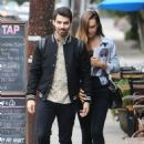 Joe Jonas and Blanda Eggenschwiler walk hand in hand after doing some book shopping at the Daily Planet Book Store in Los Feliz, California on November 20, 2013 - 454 x 644