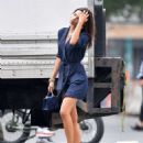 Emily Ratajkowski in Mini Dress – Out in NYC