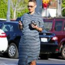 Amber Rose at Baskin Robbins before heading over to a nail salon in Studio City, California - November 6, 2012